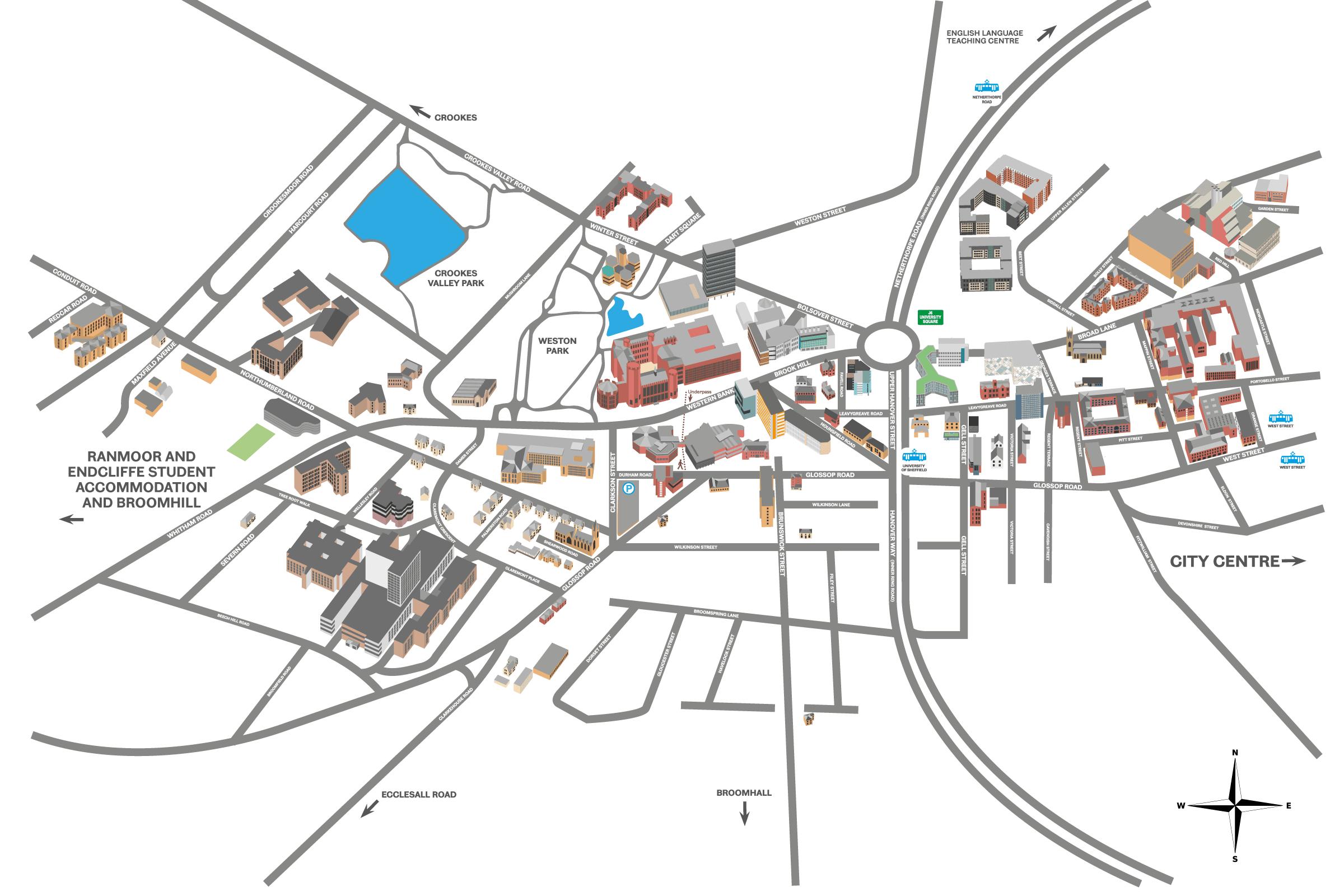 uni campus map